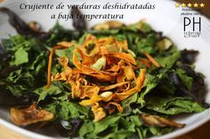 Verduras deshidratadas en horno convencional