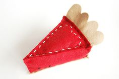 felt sweetheart pie....this would be an easy pincushion