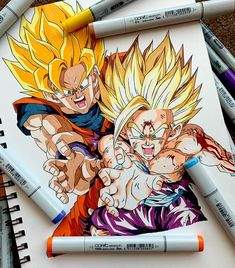 Hey guys, I'm finally able to provide you with the completed drawing - I hope it was worth the wait! Anime Couples Manga, Cute Anime Couples, Anime Girls, Manga Anime, Dbz Drawings, Goku And Gohan, Ball Drawing, Manga Artist, Fan Art