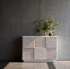 D155 sideboard cabinet material DESIGN TESTO marchettimaison.com Sideboard Cabinet, Handmade Furniture, Material Design, Vase, Canning, Collection, Home Decor, Sideboard, Craftsman Furniture