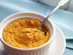 Savory Pumpkin Souffle from our newsletter -- light, fluffy, and delicious.