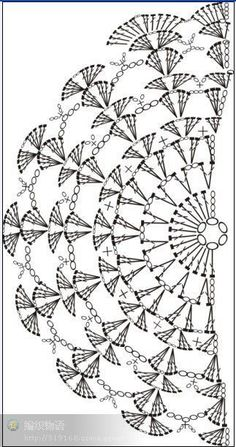 diagram, no pattern KENDŐ, it really is a clutch pattern but as a pinner pointed out ~ it can be a shawl pattern.nice and easy! Hmmm Shawl to go wiTry it as a crochet sleeve on a tank top.I love crochet patterns that make mathematical sense! Crochet Wrap Pattern, Crochet Motifs, Crochet Diagram, Crochet Stitches Patterns, Doily Patterns, Crochet Poncho, Crochet Chart, Crochet Scarves, Crochet Doilies