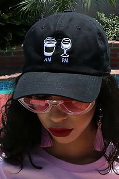 AM Coffee PM Wine Baseball Hat  Love coffee and wine  Don t we 07dcf7be49fa