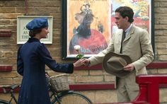 """#AliciaVikander as Vera Brittain and #KitHarington as Roland Leighton in """"Testament of Youth"""""""