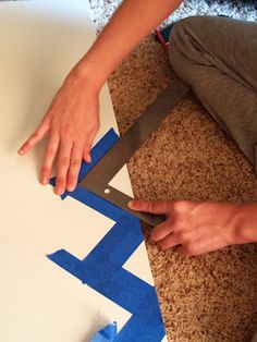 Chic on a Shoestring Decorating: DIY Chevron Canvas, Guest Post by A Blog About Everything