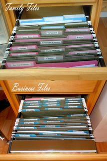 Organizing Files and Bills-definitely my husbands department!!