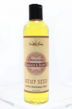 Massage Oil Natural Blend ORIGINAL (Cranberry) by Earthly Body 8oz