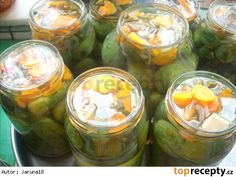 Korn, Fresh Rolls, Pickles, Cucumber, Ethnic Recipes, Red Peppers, Pickle, Zucchini, Pickling