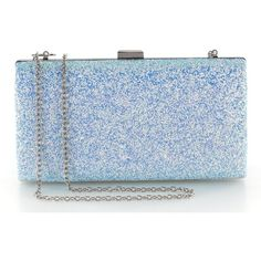 Yuenjoy Womens Shiny Sparkle Glitter Sequins Evening Bags Clutch Purse... ($21) ❤ liked on Polyvore featuring bags, handbags, clutches, blue clutches, blue hand bag, sequin purse, sequin evening bag and evening bags