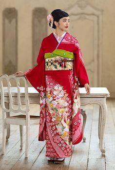NO.070 正絹 手絞り金彩|成人式の振袖販売、振袖レンタルの京都きもの友禅
