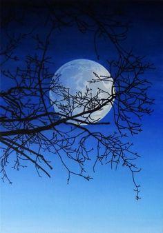 Jan Harr Måne 22691 Moonlight, Artists, Lights, Outdoor, Image, Beautiful, Sun, Tatoo, Kunst