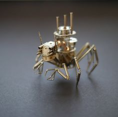 Justin Gershenson-Gates of A Mechanical Mind's gorgeous creatures from gears and watch pieces: Arachnis Rex