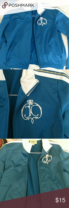 Juicy Couture track jacket I got this because it's the same as my initials I bought it a long time ago but have almost never worn it. Juicy Couture Jackets & Coats