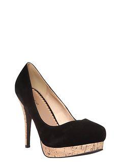 2f066c9a45f Black Cork System Heel (Wide Width)