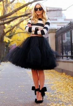 Bring out your inner fashionista with the Serendipity Tulle Skirt.  This gorgeous skirt offers up 5 layers of tulle and falls right around the knee.  Available