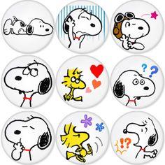 "SNOOPY 1.75"" Badges Pinbacks, Mirror, Magnet, Bottle Opener Keychain http://www.amazon.com/gp/product/B00C30D3BS"
