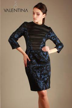 """Il vestito da sera della linea """"So Valentna"""" in un prezioso broccato,di una bellezza abbagliante, come un gioiello di inestimabile valore.  www.sovalentina.com"""
