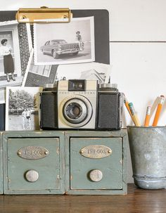 Next time you're planning a trip to Michaels be sure to add these adorable mini storage drawers to your list. They're so easy to transform into vintage industrial storage and would make a perfect stylish addition to any office or work space.