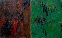 Albert Kotin, Untitled (Diptych), 1964 Oil on canvas, 20 x 32 inches
