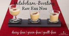 Metabolism-Boosting Raw Egg Nog {Dairy-Free | Gluten-Free | Paleo} | MIX | wellness solutions for a balanced life