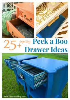 25+ Inspiring Peek a Boo Drawer Ideas (Lined Furniture Drawers) Check out the red dresser with leopard lines drawers!