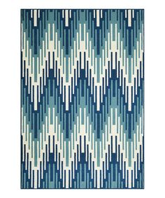 Take a look at this Momeni Rugs Blue Fiesta Indoor/Outdoor Rug today!