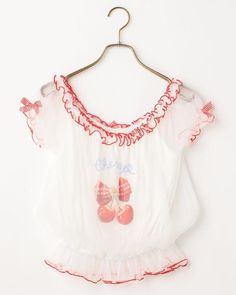 LIZ LISA Cherry Printing Tops Romantic Sweet Lolita Kawaii Japan #LizLisa #Tops #Shibuya109fashion