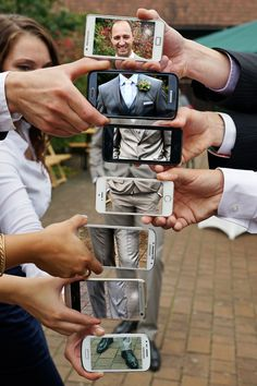 Wie genial ist diese Idee bitte?! Wir sind mehr als begeistert! #wedding #kreativ #hochzeit #socool #smartphone #bräutigam