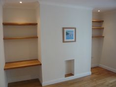 3 Seductive Cool Ideas: Staggered Floating Shelves Offices floating shelves storage how to build.Floating Shelves Above Couch Small Spaces single floating shelf decor. Shabby Chic Tv Stand, Shelves Above Couch, Alcove Shelving, Oak Shelves, Desk Shelves, Oak Floating Shelves, Shelving