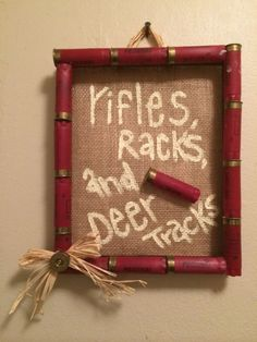 Shot gun shell frame burlap rifles racks and deer tracks hunting baby shower hunting nursery camo nursery mossy oak nursery Shot gun shell frame burl. Baby Boys, Baby Boy Rooms, Baby Boy Nurseries, Baby Boy Camo, Babies Nursery, Girl Camo, Carters Baby, Shotgun Shell Crafts, Shotgun Shells