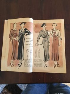 McCall Style News, January 1935 featuring McCall 8039 and 8117 on the left page, 8121 and 8089 on the right page