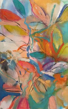 "Saatchi Art Artist Michelle Daisley Moffitt; Painting, ""Leaves"" #art"