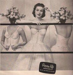 6bb8dad7ff4 Perma Lift Advertisement 1956 Vintage Lingerie