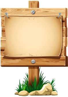 Wooden Board With Grass Vector – Best Unique Frame Ideas