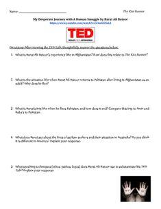 essay topics for the kite runner
