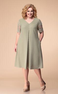 Simple Dresses, Plus Size Dresses, Pretty Dresses, Plus Size Outfits, Casual Dresses, 60 Fashion, Fashion Dresses, Mature Women Fashion, Lace Dress Styles