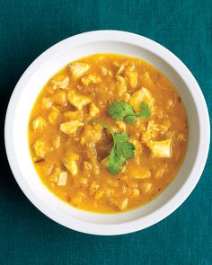 Bright butternut squash gives beta-carotene, vitamin C, and fiber to this satisfying soup.