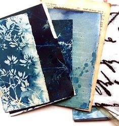 50g or 100g handprinted scrap pack original cyanotypes collage art materials. #abstractcollage #collageart #mixedmedia #collageartmixedmediaabstract #vintagemixedmediacollage #cyanotype #cyanotypeprints