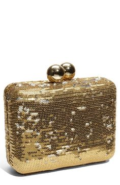 Steven by Steve Madden Sequined Box Clutch