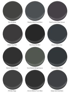 Top black paint colors for any room in the home paint - Black and white paint schemes ...