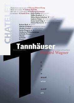 Rudi Meyer, Tannhäuser, Opéra de Richard Wagner, Théâtre du Châtelet, Paris, 2004. Sélectionné au Festival de l'affiche de Chaumont en 2005.
