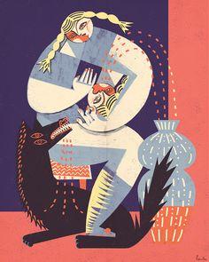 It's Nice That | Polish illustrator Gosia Herba interprets myths and legends in pastel tones