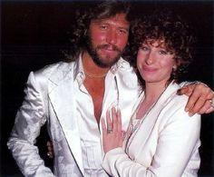 Barry Gibb and Barbara Striesand