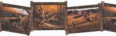 York White Tail Framed Deer Wallpaper Border - WD4105B