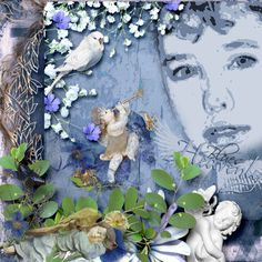 """Kit by G & T Designs  """"HEAVENLY BLUES""""  available @ E-scape and Scrap  https://www.e-scapeandscrap.net/boutique/index.php?main_page=product_info&cPath=113_189&products_id=4731&number_of_uploads=0"""