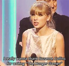 Taylor wins her seventh Grammy. This one is for, 'Safe and Sound,' from The Hunger Games. True that tay! true that!