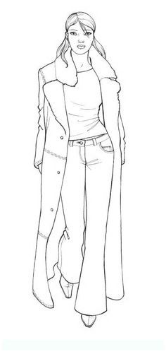 fashion_3 Teens and adults coloring pages