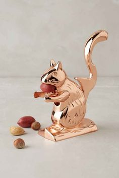 A squirrel friend to crack your nuts for you. | 43 Insanely Cheap Things You Need For Your Kitchen. #gifts