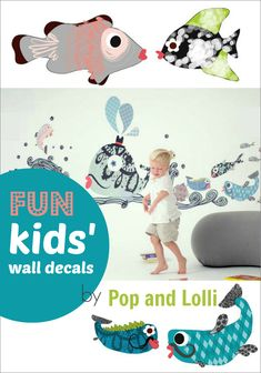 LOVE these big, colorful wall decals! Wouldn't they be great for a kids' bedroom or playroom?