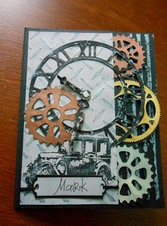 Steampunk Card - Birthday - could say something about time passing